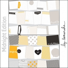Project Life Core Kit Cards 3x4 Midnight Edition by Liz Tamanaha/Becky Higgins
