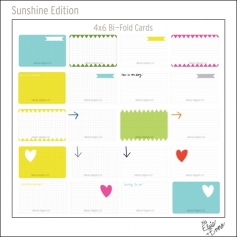 Project Life Core Kit Bi-Fold Cards 4x6 Sunshine Edition by Elsie and Emma/Becky Higgins