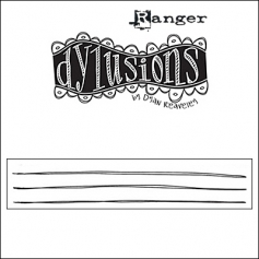 Ranger Dylusions Cling Stamp Journaling Lines Write Between The Lines by Dyan Reaveley