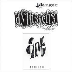 Ranger Dylusions Cling Stamp Art Word Love by Dyan Reaveley