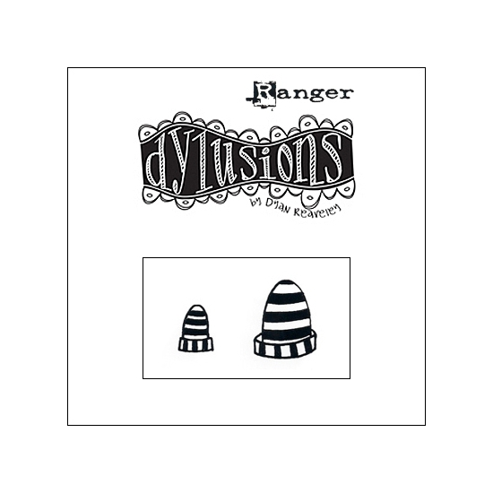 Ranger Dylusions Cling Stamp Hats Birds On A Wire by Dyan Reaveley