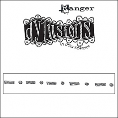 Ranger Dylusions Cling Stamp Border Further Round The Edge by Dyan Reaveley