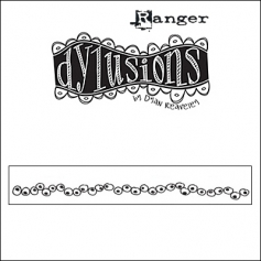 Ranger Dylusions Cling Stamp Border Inbetweenies by Dyan Reaveley