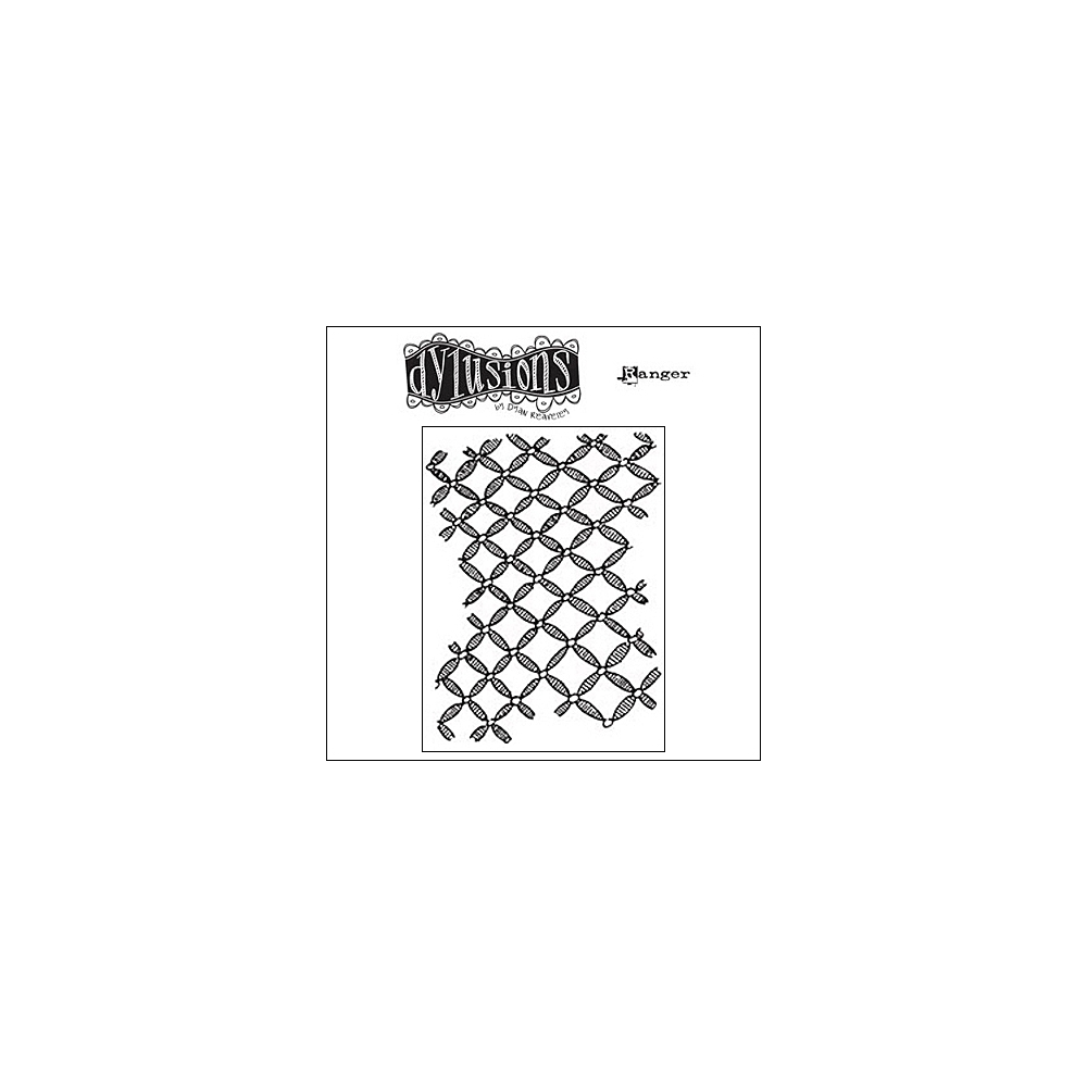 Ranger Dylusions Cling Stamp Background Love by Dyan Reaveley
