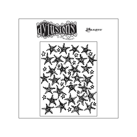 Ranger Dylusions Cling Stamp Christmas Backgrounds by Dyan Reaveley