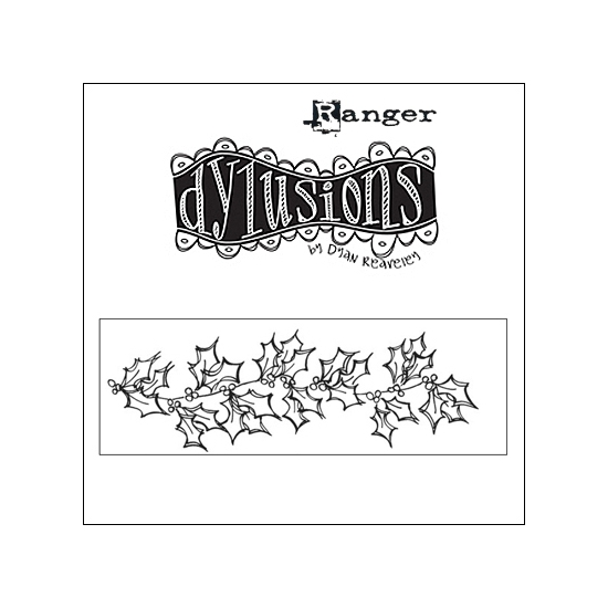 Ranger Dylusions Cling Stamp Christmas Borders by Dyan Reaveley