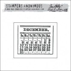 Stampers Anonymous Cling Stamp Mini Holidays by Tim Holtz Collection