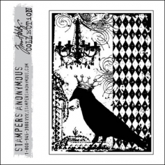 Stampers Anonymous Cling Stamp Components Black Bird by Tim Holtz Collection