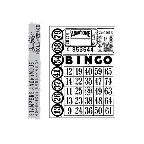 Stampers Anonymous Cling Stamp Components Games by Tim Holtz Collection