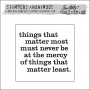Stampers Anonymous Cling Stamp Words For Though by Tim Holtz Collection