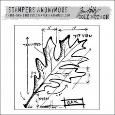 Stampers Anonymous Cling Stamp Autumn Blueprint by Tim Holtz Collection