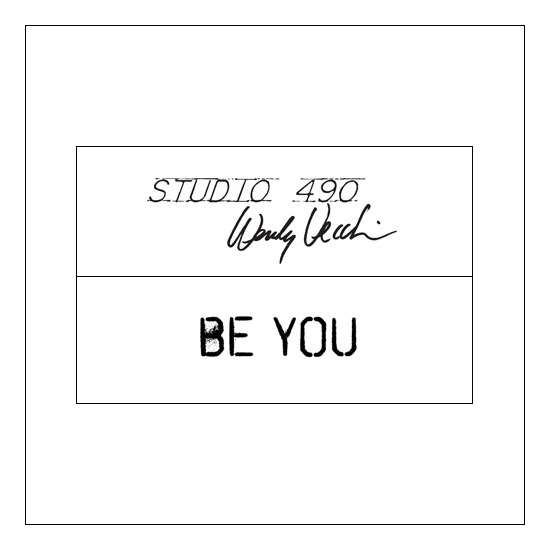 Stampers Anonymous Studio 490 Wood Mounted Red Rubber Stamp Be You by Wendi Vecchi