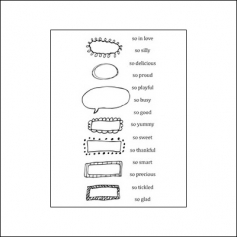 Ranger Clear Stamps Words and Frames One by Claudine Hellmuth