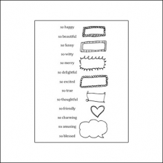 Ranger Clear Stamps Words and Frames Two by Claudine Hellmuth