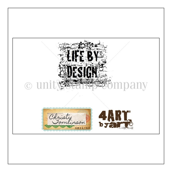 Unity Stamp Company Wood Mounted Red Rubber Stamp Life By Design by Art McKracken Art
