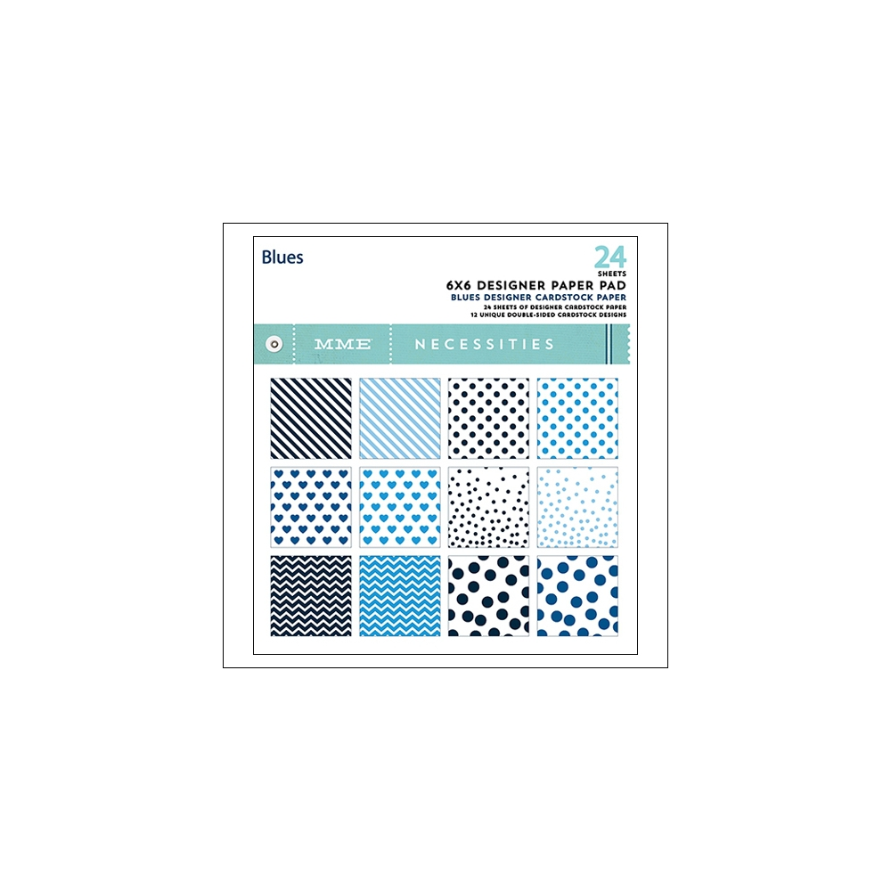 My Minds Eye Paper Pad 6x6 Blues Necessities Collection