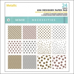 My Minds Eye Paper Pad 6x6 Metallic Necessities Collection