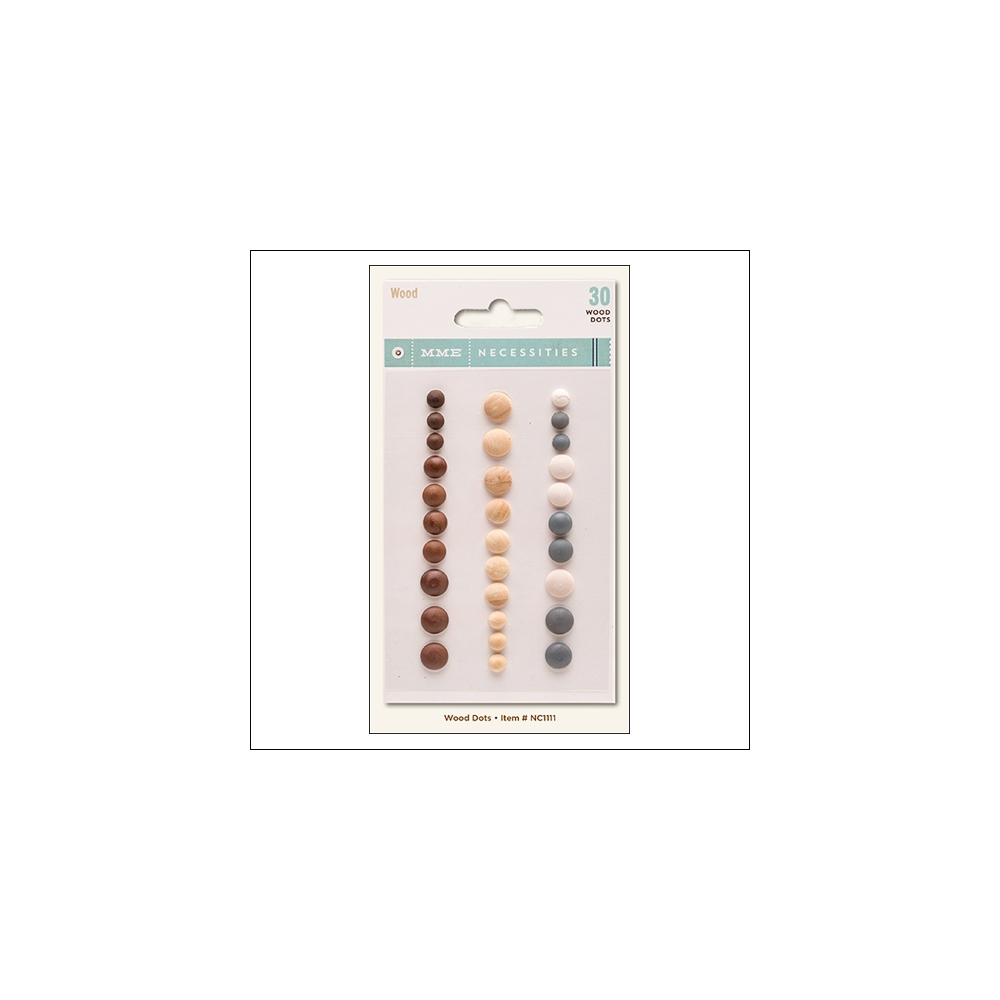 My Minds Eye Wood Dots Necessities Collection