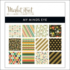 My Minds Eye Paper Pad 6x6 Nob Hill Market Street Collection by Jen Allyson