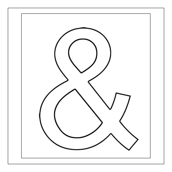 Evalicious Cling Red Rubber Cling Mounted Stamp Ampersand