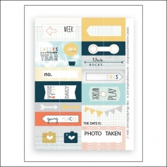 Evalicious Snip Snip Page Tabs Hello 2014 Collection