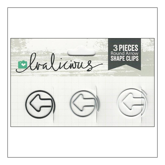 Evalicious Shape Clips Round Arrow