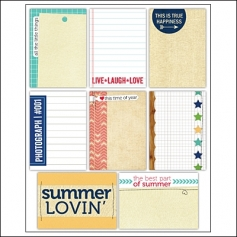 Elles Studio Note Tags Summer Lovin Collection
