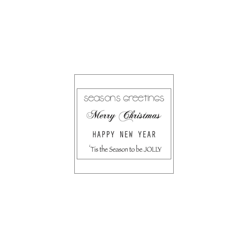Kaisercraft Clear Stamps Christmas