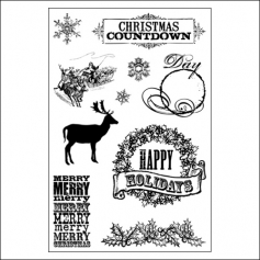 Teresa Collins Clear Stamps Christmas Home Collection