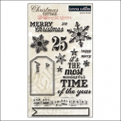 Teresa Collins Clear Stamps Christmas Cottage Collection