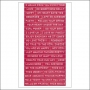 Cosmo Cricket Stickers Tiny Text Punch Me Pink
