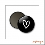 Scrapbook and More Badge Button Black Heart by Elise Blaha Cripe