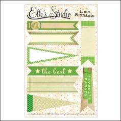 Elles Studio Pennants Lime