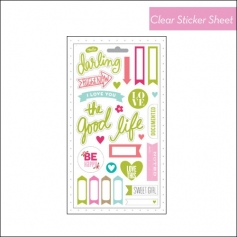 Me and My Big Ideas Pocket Pages Clear Sticker Sheet Friends