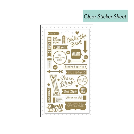 Me and My Big Ideas Pocket Pages Sticker Sheet Gold Foil