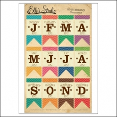 Elles Studio Pennants Monthly 2012