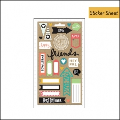 Me and My Big Ideas Pocket Pages Sticker Sheet Kraft Enjoy The Little Things