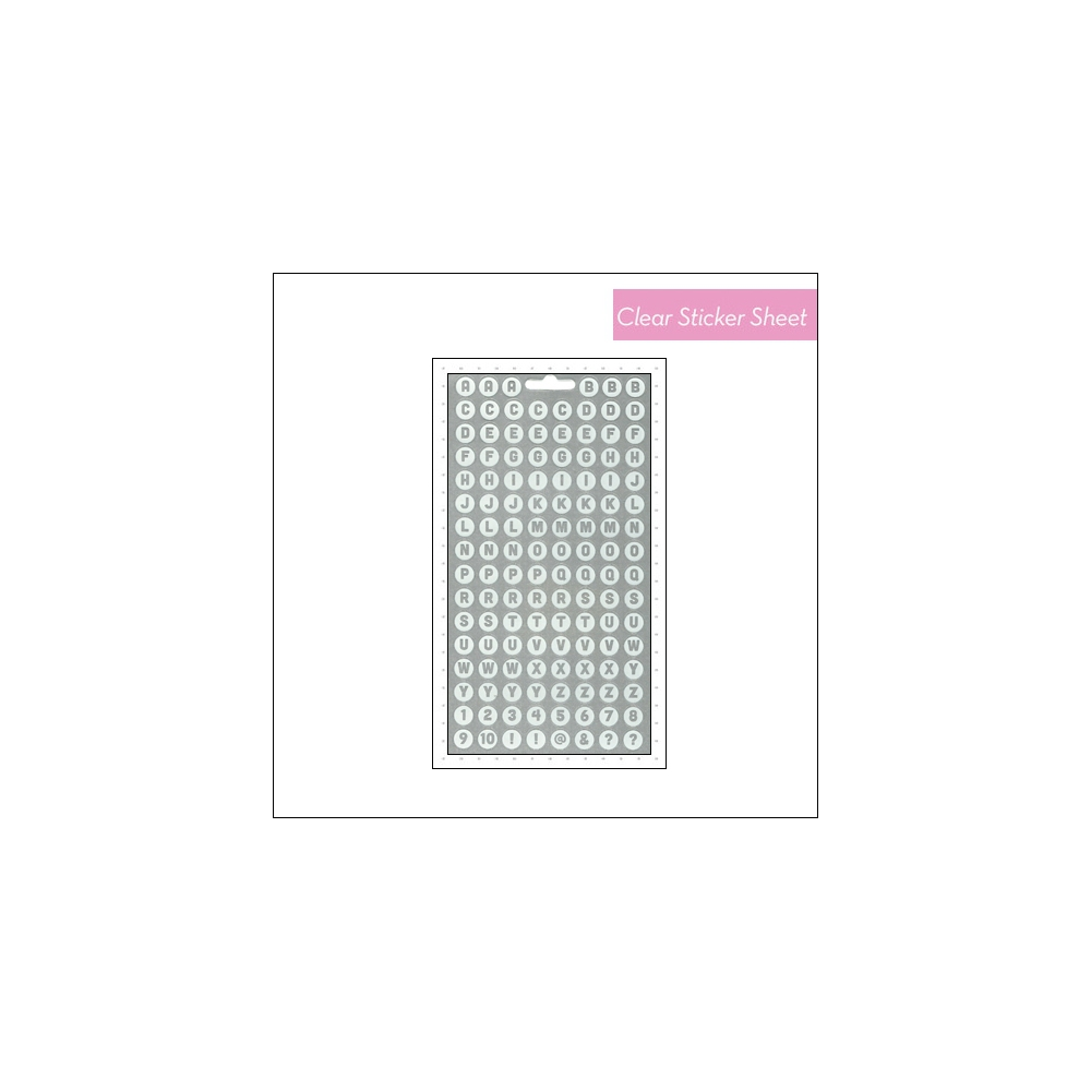 Me and My Big Ideas Pocket Pages Clear White Sticker Sheet