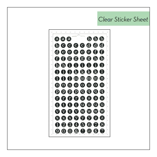 Me and My Big Ideas Pocket Pages Clear Black Sticker Sheet