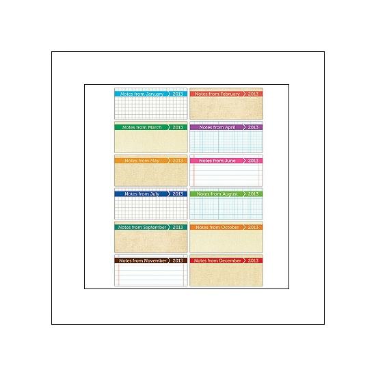 Elles Studio Tiny Tags Calendars