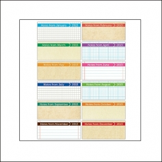 Elles Studio Tiny Tags Calendars