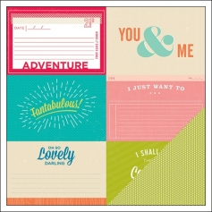 American Crafts Doube Sided Paper Rubin Shimelle Collection