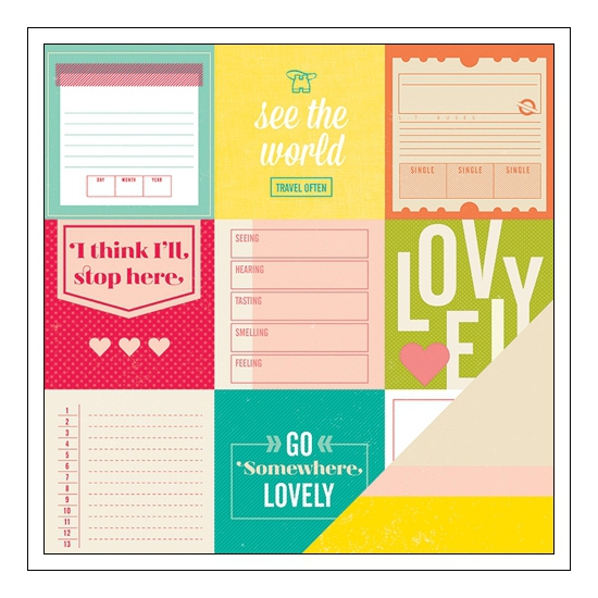 American Crafts Doube Sided Paper Curie Shimelle Collection