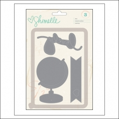 American Crafts Die Set Globe Lovely and Banner Shimelle Collection