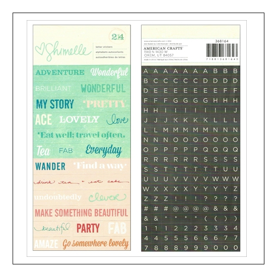 American Crafts Word and Letter Stickers Shimelle Collection