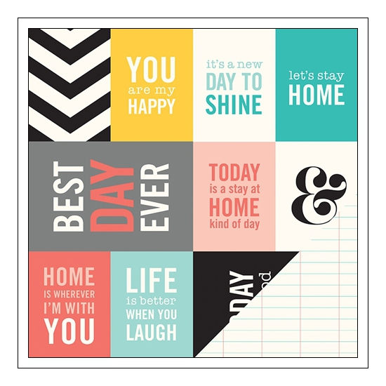 Pebbles Paper Cardstock Double Sided Best Day Ever Home-Made Collection by Jen Hadfield