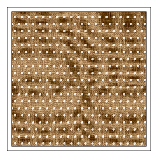 Pebbles Specialty Paper Burlap With White Dots Home-Made Collection by Jen Hadfield