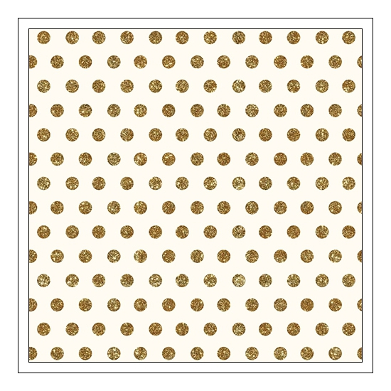 Pebbles Specialty Cardstock Paper Cream With Gold Foil Dot Home-Made Collection by Jen Hadfield