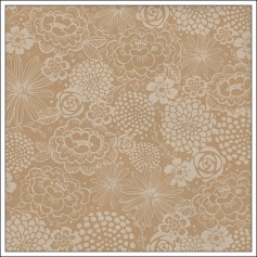 Pebbles Specialty Paper Double Sided Printed Kraft Gilded Florali Home-Made Collection by Jen Hadfield