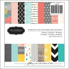 Pebbles Paper Pad 6x6 Home-Made Collection by Jen Hadfield
